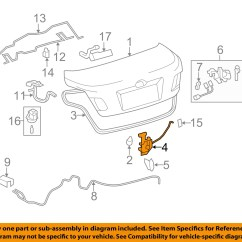 Cat3 Phone Wiring Diagram Evinrude Ficht 200 Toyota Oem 07 11 Camry Trunk Lock Or Actuator Latch