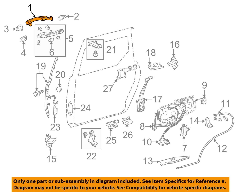 door handle parts diagram signal stat 800 wiring toyota oem 04 10 sienna side sliding outside