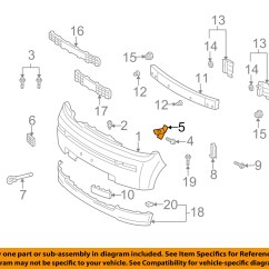2005 Scion Xb Parts Diagram Wiring Circuits Diagrams Toyota Oem Front Bumper Cover Retainer Clip Or