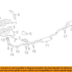 Lexus Rx300 Exhaust System Diagram 97 Ford Expedition Stereo Wiring Toyota Oem 99 03 3 0l V6 Manifold Stud