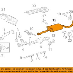 Lexus Rx300 Exhaust System Diagram John Deere G Tractor For Sale Toyota Oem 10 15 Rx350 3 5l V6 Tail