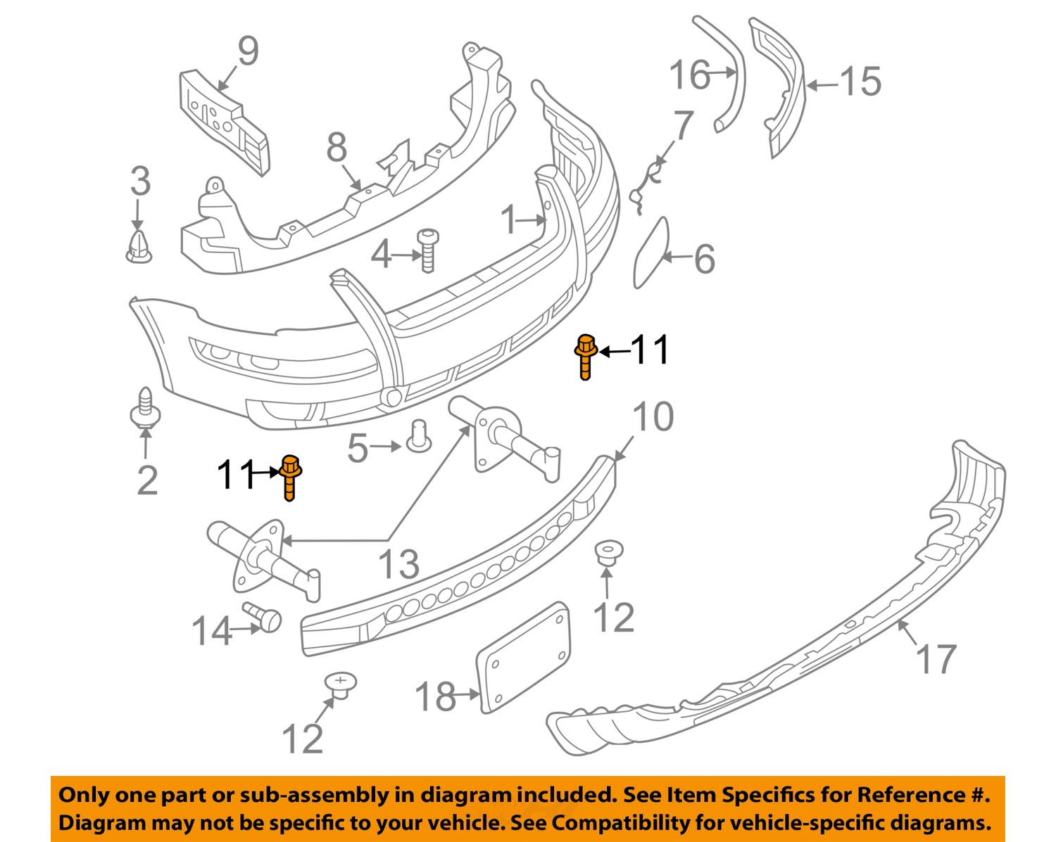 hight resolution of  11 on diagram only genuine oe factory original item
