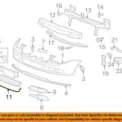 Vw Eos Parts Diagram Wiring Circuit Breaker Box Volkswagen Oem 07 11 Front Bumper Grille Frame