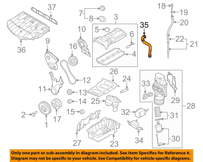 vw eos parts diagram convert image to visio volkswagen oem 07 08 engine breather tube