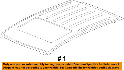 small resolution of buick gm oem 02 07 rendezvous roof panel