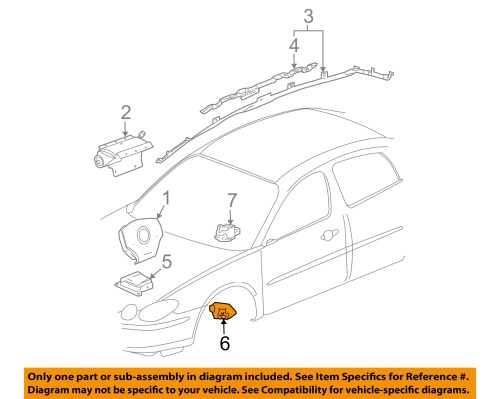 small resolution of buick gm oem 05 07 lacrosse airbag air bag srs front impact sensor 10372781