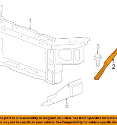 chevrolet gm oem impala radiator core support diagonal brace right 15892685 [ 1500 x 1197 Pixel ]