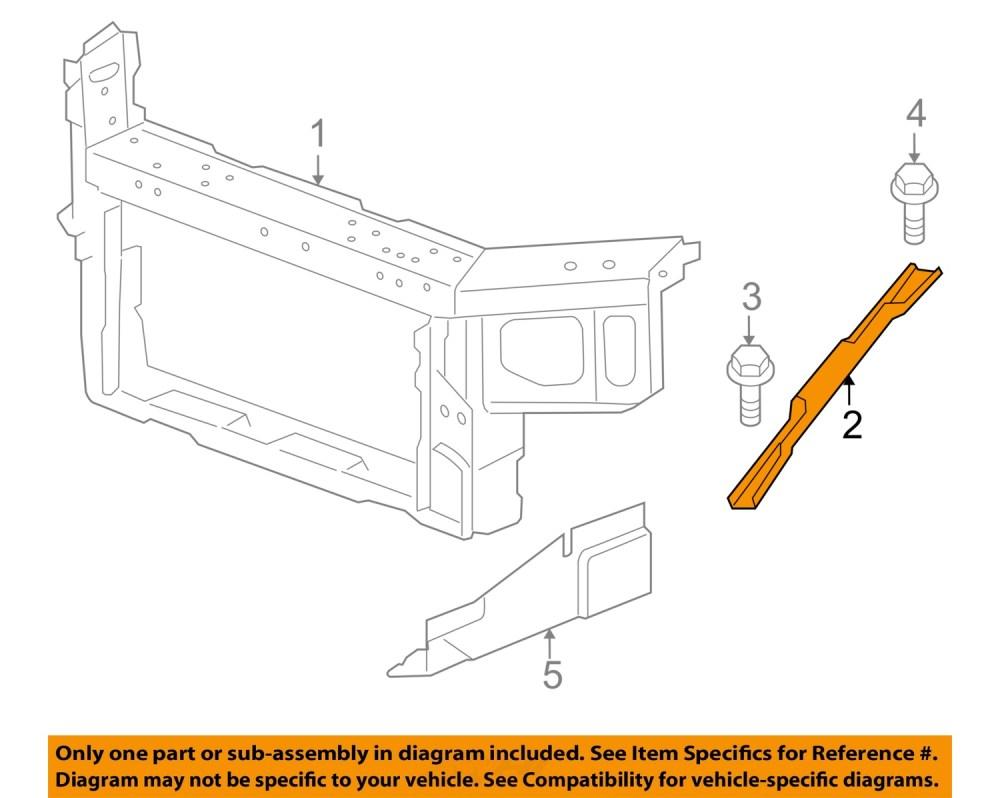 medium resolution of chevrolet gm oem impala radiator core support diagonal brace right 15892685