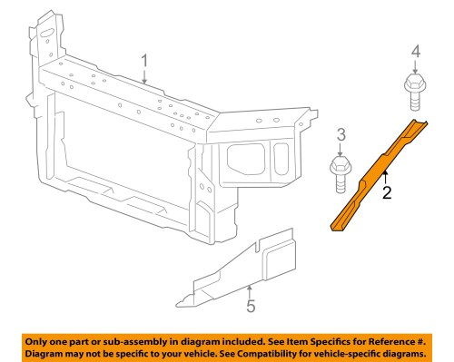 small resolution of chevrolet gm oem impala radiator core support diagonal brace right 15892685