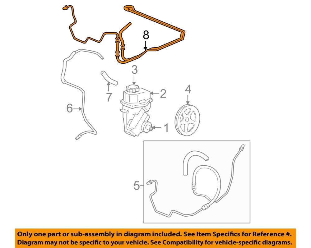 medium resolution of chevrolet gm oem 0611 impala pump hosepower steering