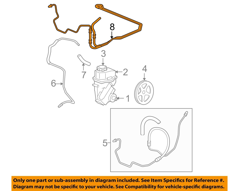 hight resolution of chevrolet gm oem 0611 impala pump hosepower steering