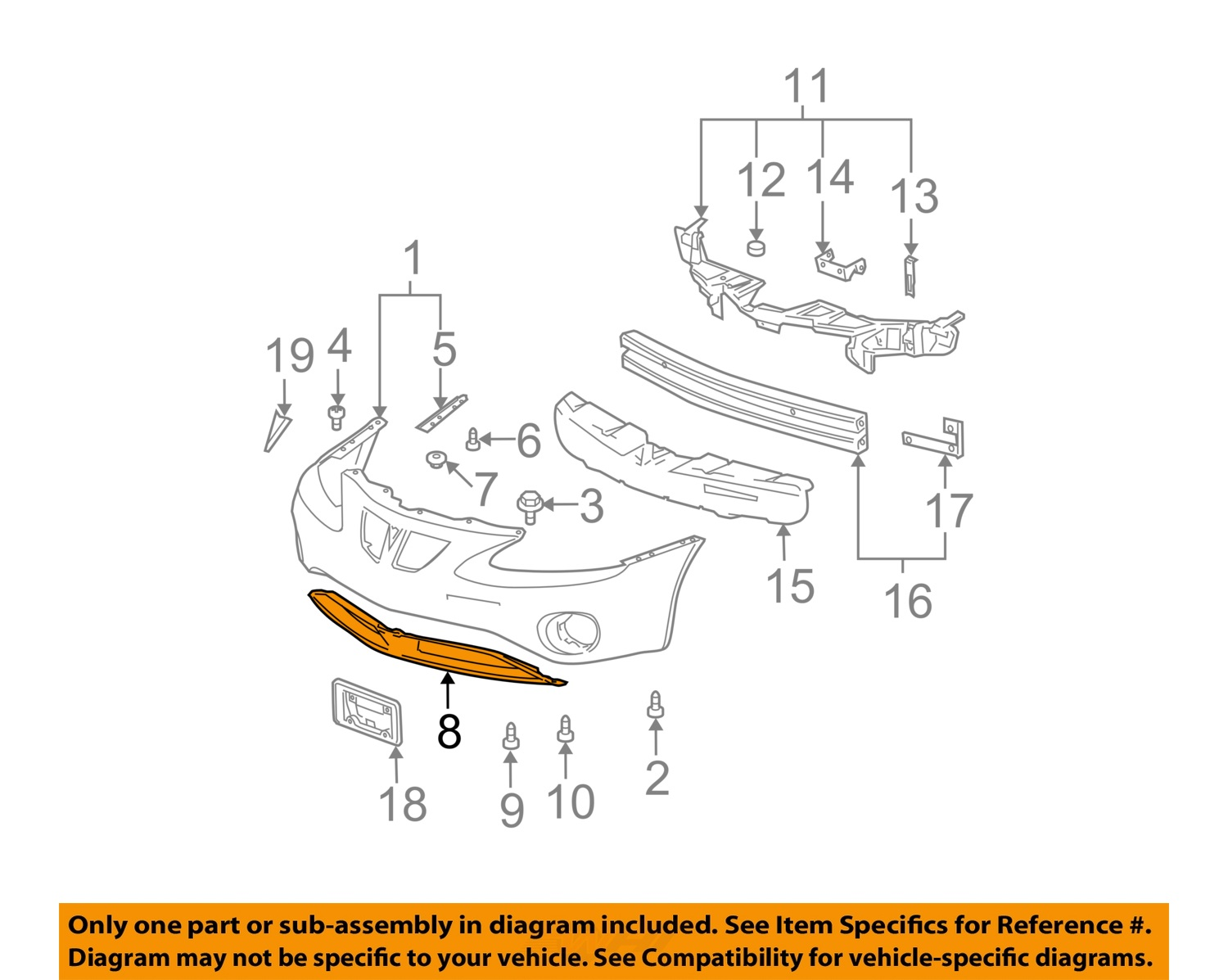 grand prix parts diagram chevy truck exhaust systems pontiac gm oem 04 08 front bumper lower panel
