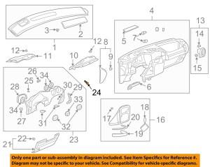 Pontiac GM OEM 0105 Aztek Instrument Panel DashCluster