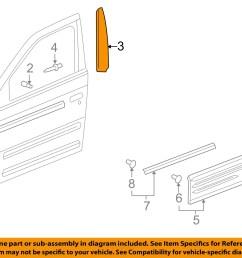 pontiac gm oem 01 05 aztek front door applique window trim left 10322164 [ 1500 x 1197 Pixel ]