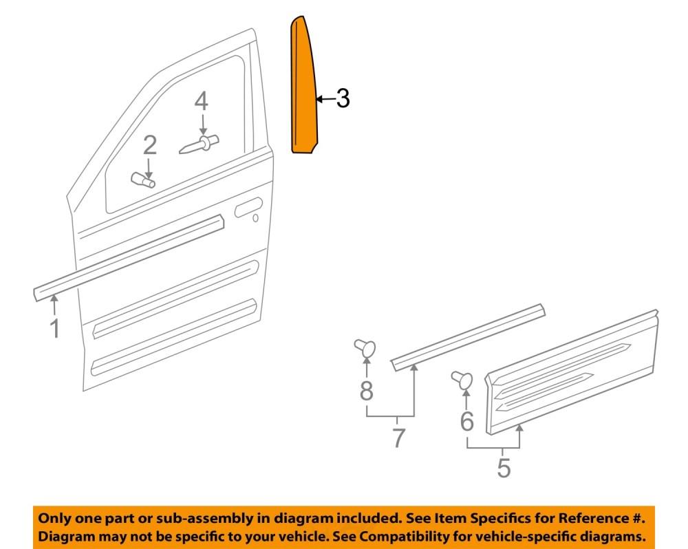 medium resolution of pontiac gm oem 01 05 aztek front door applique window trim left 10322164