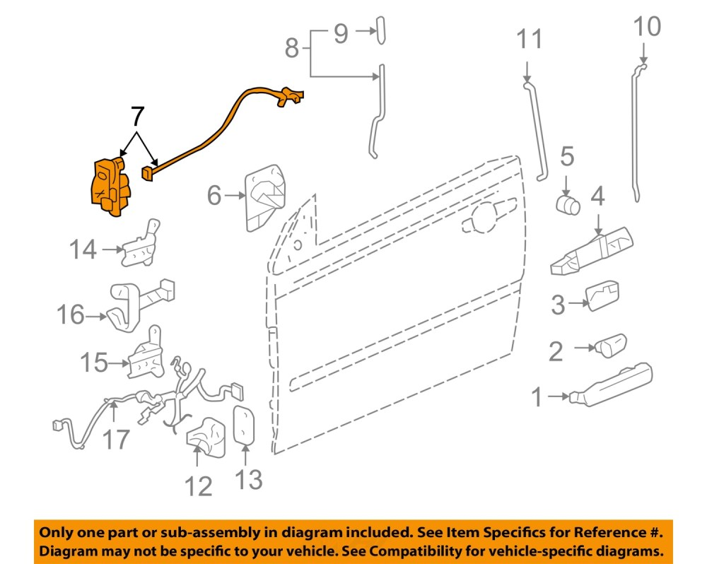 medium resolution of  7 on diagram only genuine oe factory original item