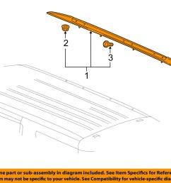 gm oem roof rack rail luggage carrier side rail right 23276285 [ 1500 x 1197 Pixel ]