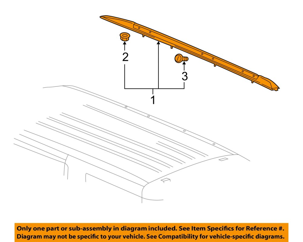 medium resolution of gm oem roof rack rail luggage carrier side rail right 23276285