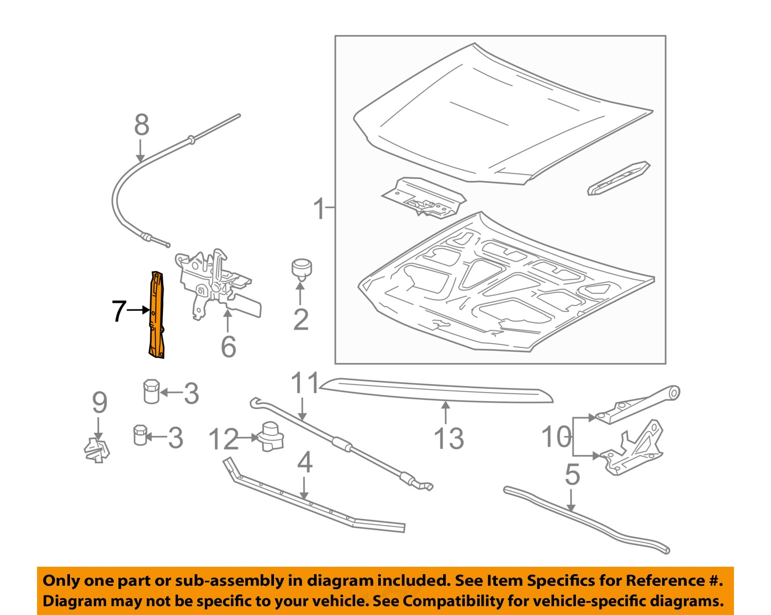 2006 hummer h3 parts diagrams 3 way switch wiring diagram multiple lights power at light h3t hood latch support 2010 new oem gm 20827029