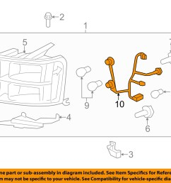 2007 2013 gmc sierra headlight wiring harness new gm 2007 gmc sierra headlamp replacement 2014 gmc [ 1500 x 1197 Pixel ]