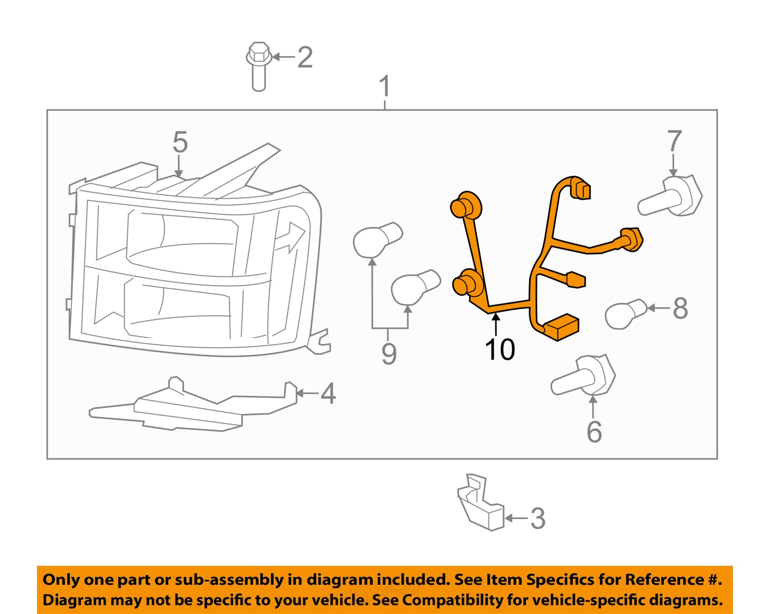 hight resolution of 2007 2013 gmc sierra headlight wiring harness new gm 2007 gmc sierra headlamp replacement 2014 gmc