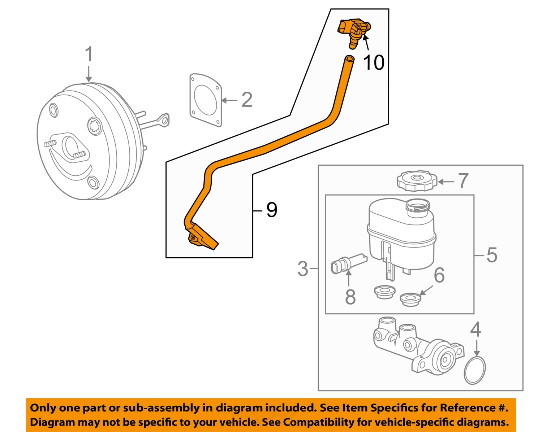 hight resolution of 2014 2017 silverado sierra 1500 brake booster vacuum hose pipe new gm 23135228 2 2 of 3