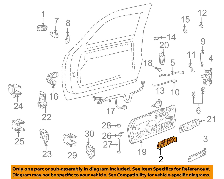 door handle parts diagram motor starters wiring diagrams gm oem interior inside right 15708044 ebay