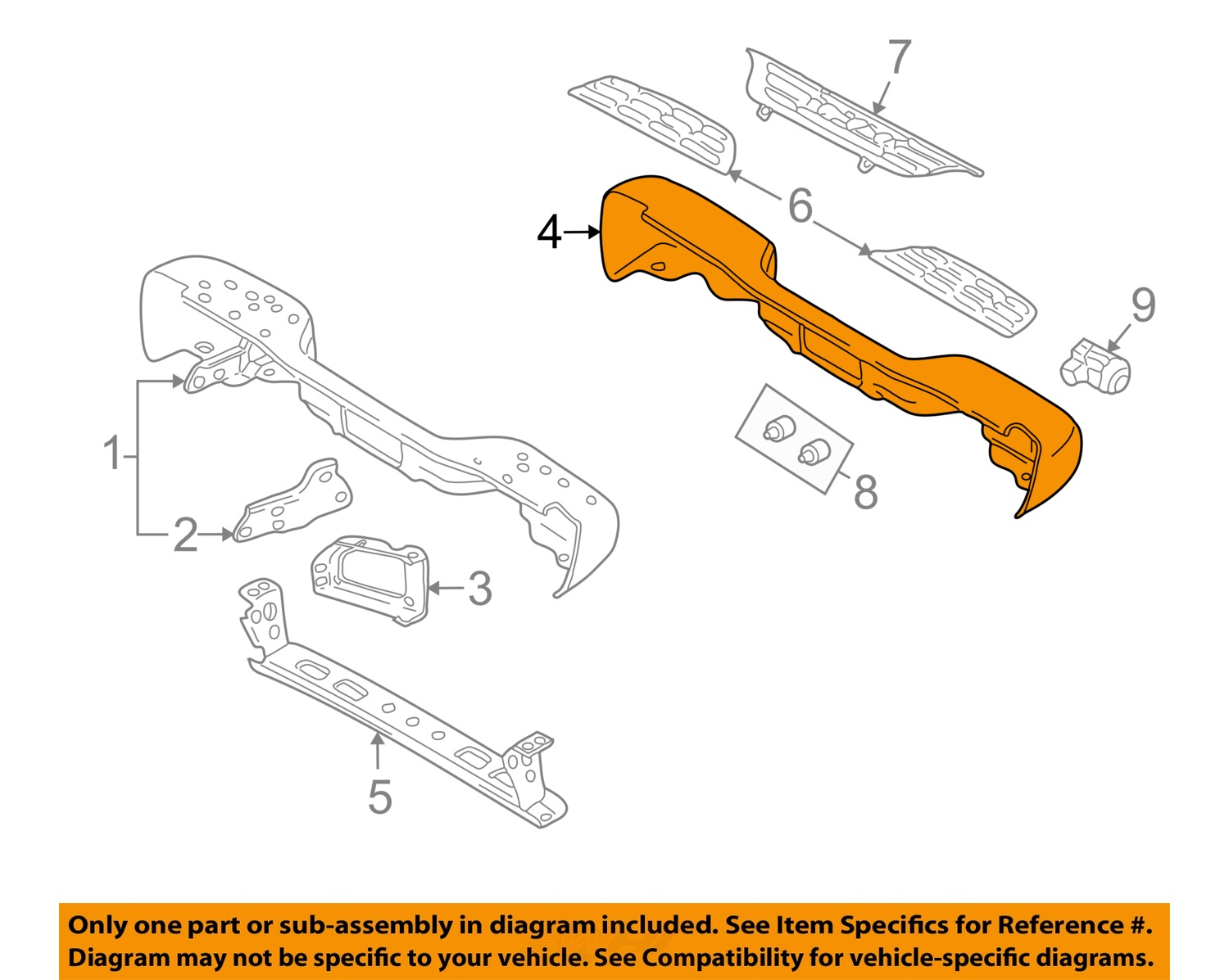 2002 chevy avalanche parts diagram emergency light wiring maintained rear step bumper plastic cover new gm