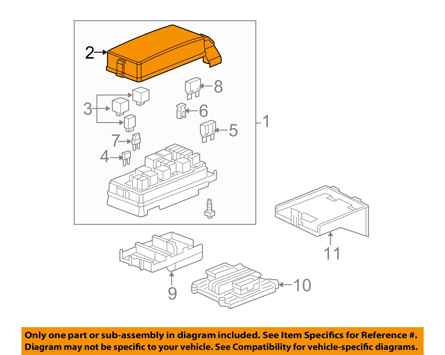 hight resolution of 2008 chevy equinox fuse box for sale block and schematic diagrams u2022 2005 tahoe fuse