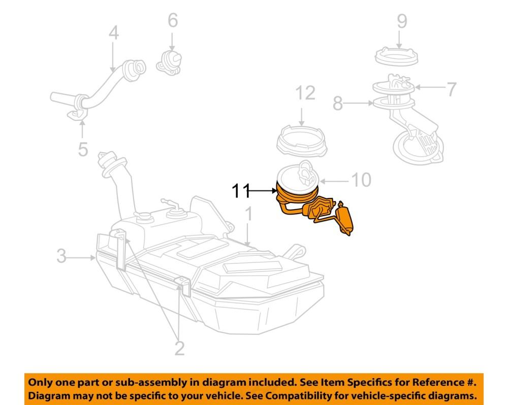 medium resolution of ford oem 99 04 mustang 4 6l v8 fuel system fuel sender