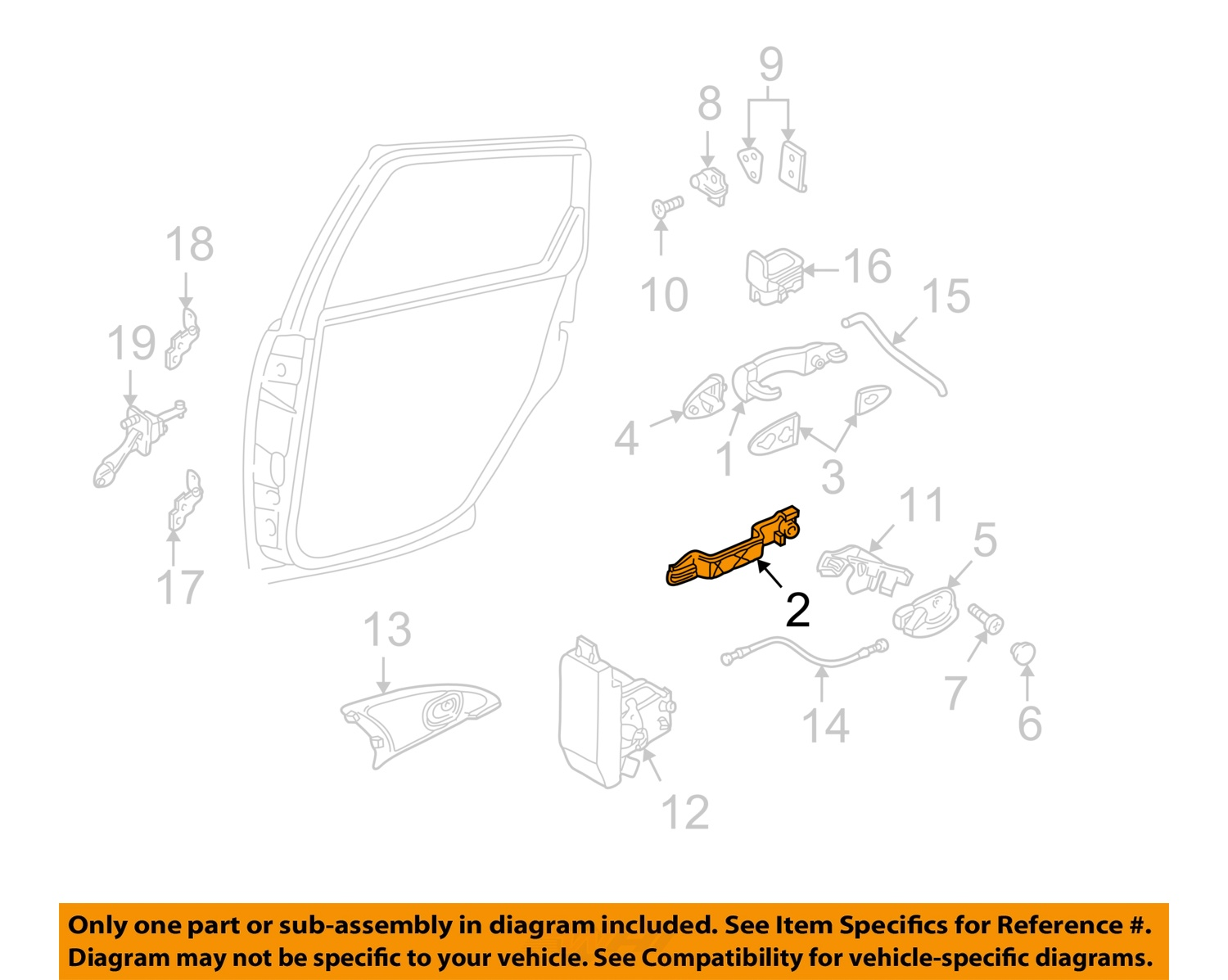 ford focus door parts diagram cat6a plug wiring 2007 handle auto