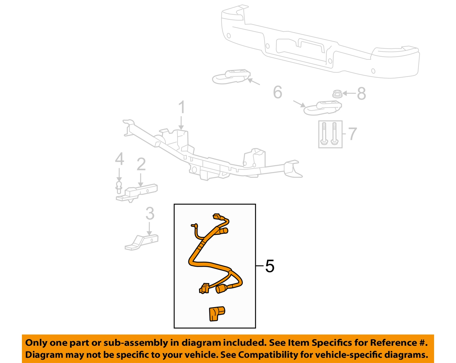 2007 ford f150 wiring diagram 2002 chevy trailblazer parts oem 7 pin connector to trailer harness 05 07 f