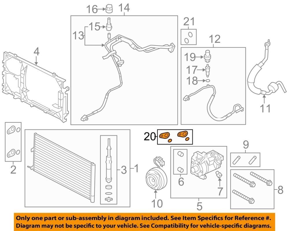 medium resolution of ford oem a c condenser compressor lines seal kit dl3z19b596b
