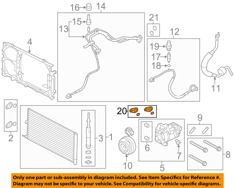 hight resolution of ford oem a c condenser compressor lines seal kit dl3z19b596b