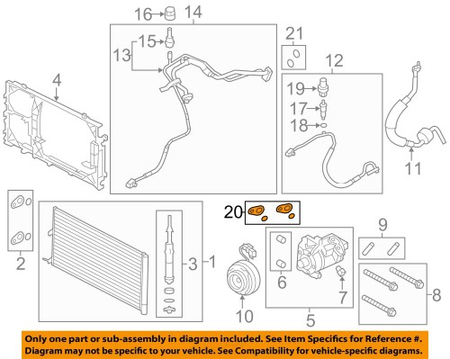 small resolution of ford oem a c condenser compressor lines seal kit dl3z19b596b