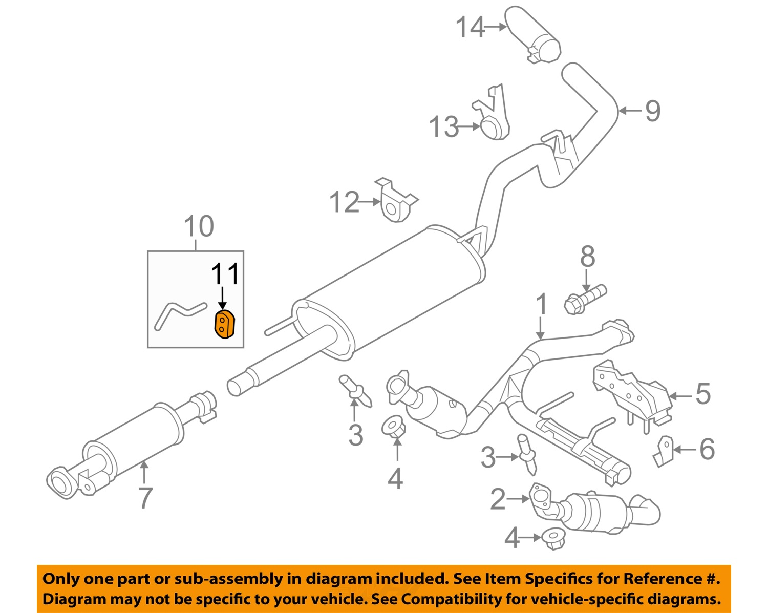 2000 ford explorer exhaust diagram 2004 toyota celica audio wiring f 150 system auto parts