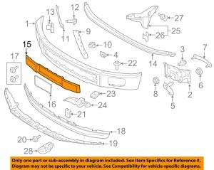 FORD OEM 1517 F150 Front BumperTrim Panel FL3Z17E810CA