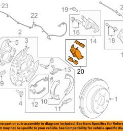 details about ford motorcraft brf1470 oem 2014 2016 f 150 rear disc brake pads set cl3z 2200 c [ 1500 x 1197 Pixel ]