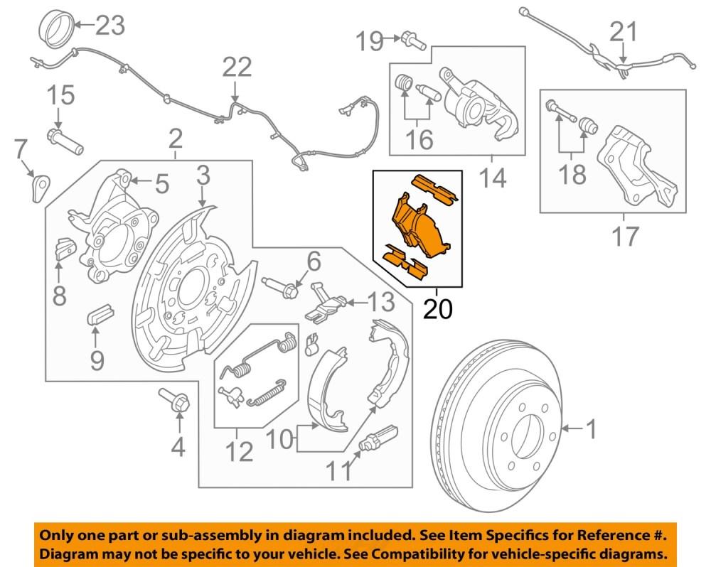 medium resolution of details about ford motorcraft brf1470 oem 2014 2016 f 150 rear disc brake pads set cl3z 2200 c