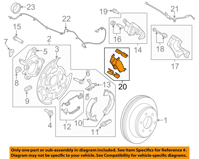 hight resolution of details about ford motorcraft brf1470 oem 2014 2016 f 150 rear disc brake pads set cl3z 2200 c