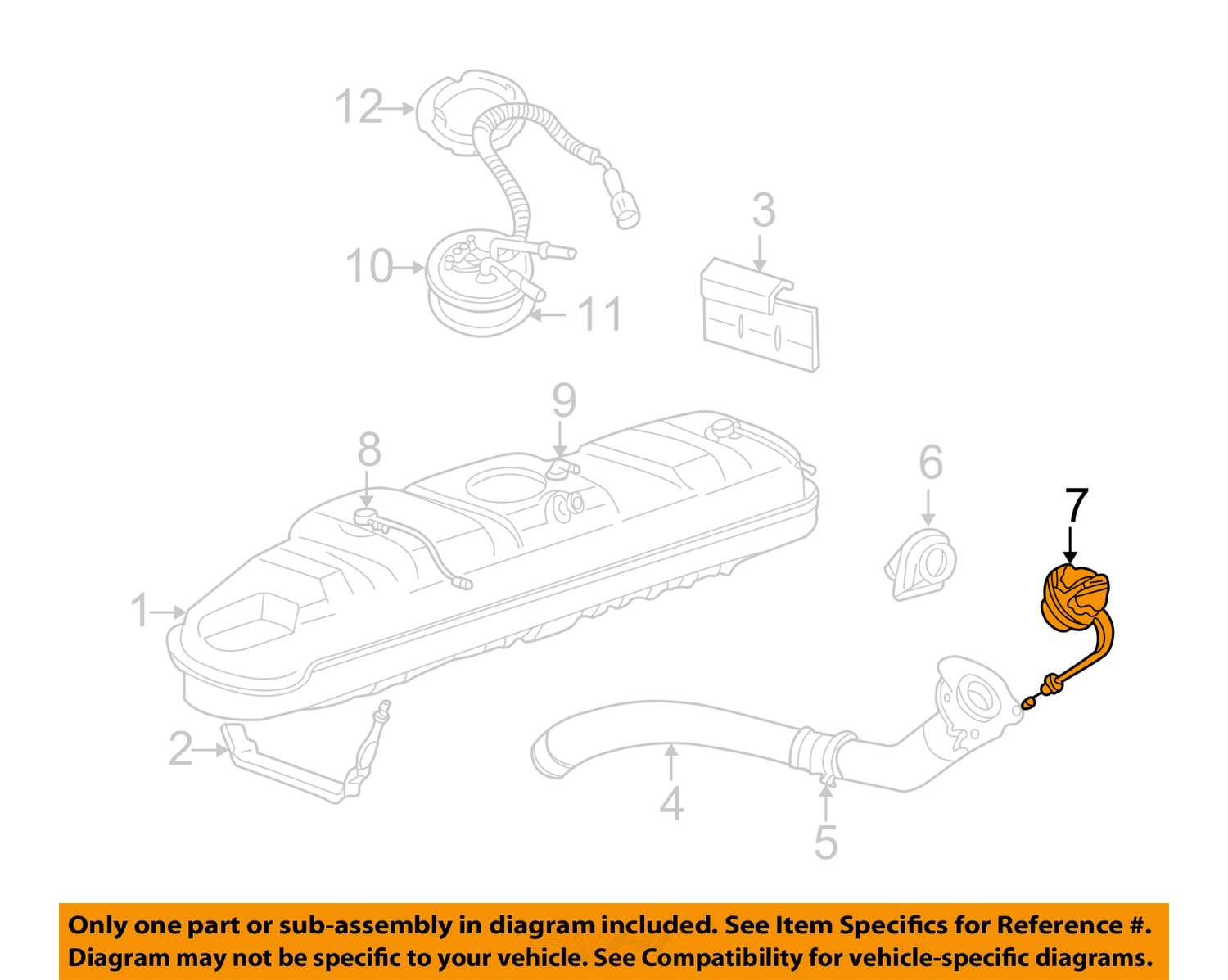hight resolution of  7 on diagram only genuine oe factory original item