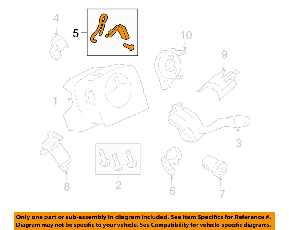 medium resolution of ford oem 2007 f 350 super duty steering column tilt adjuster lever 7c3z3f609b