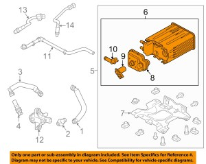 FORD OEM 0914 E350 Super DutyVapor Canister Fuel Gas