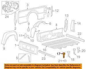 FORD OEM 9916 F250 Super Duty Rear Fender PanelBedMount Bolt W714262S900 | eBay