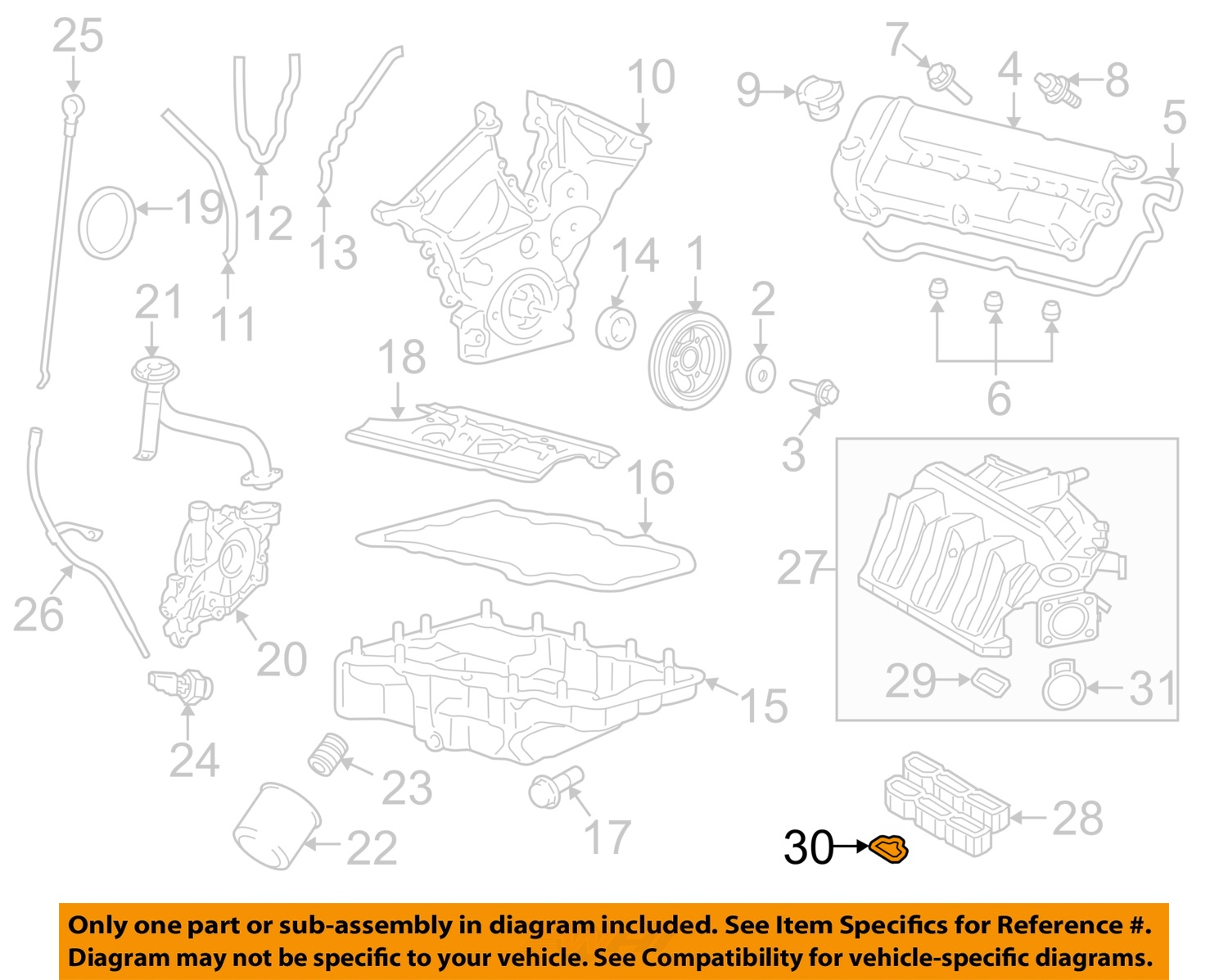 hight resolution of  30 on diagram only genuine oe factory original item