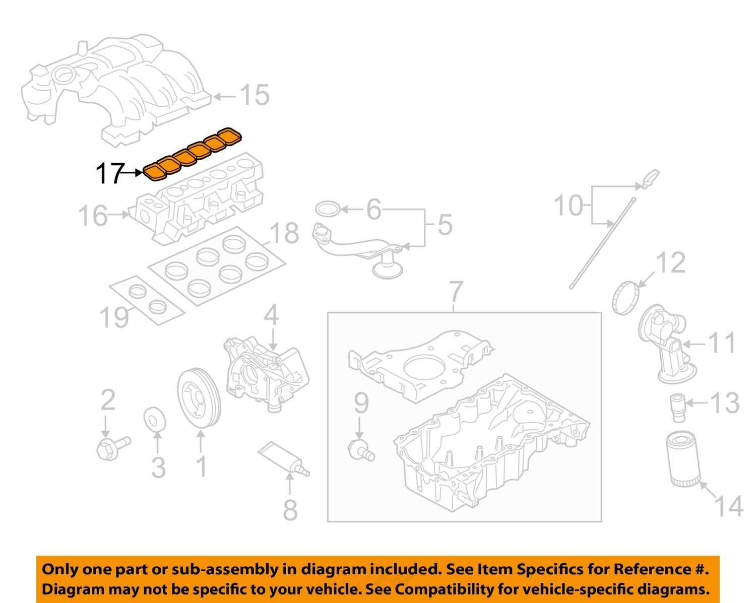 hight resolution of  17 on diagram only genuine oe factory original item