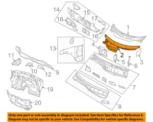 CHRYSLER OEM PacificaCowl Grille Panel Windshield Wiper