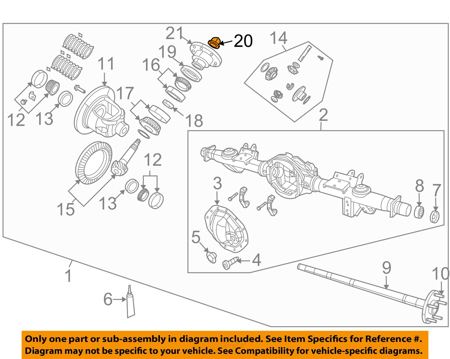dodge ram oem parts diagram what does nca mean on a wiring 2002 12 1500 differential pinion nut