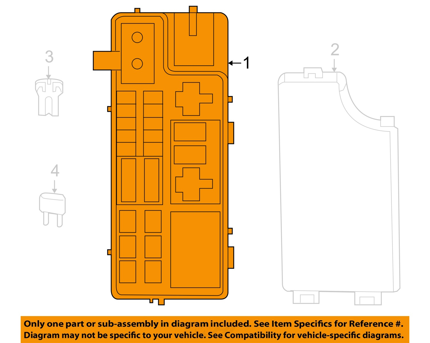 hight resolution of jeep chrysler oem 2007 compass 2 4l l4 fuse box module