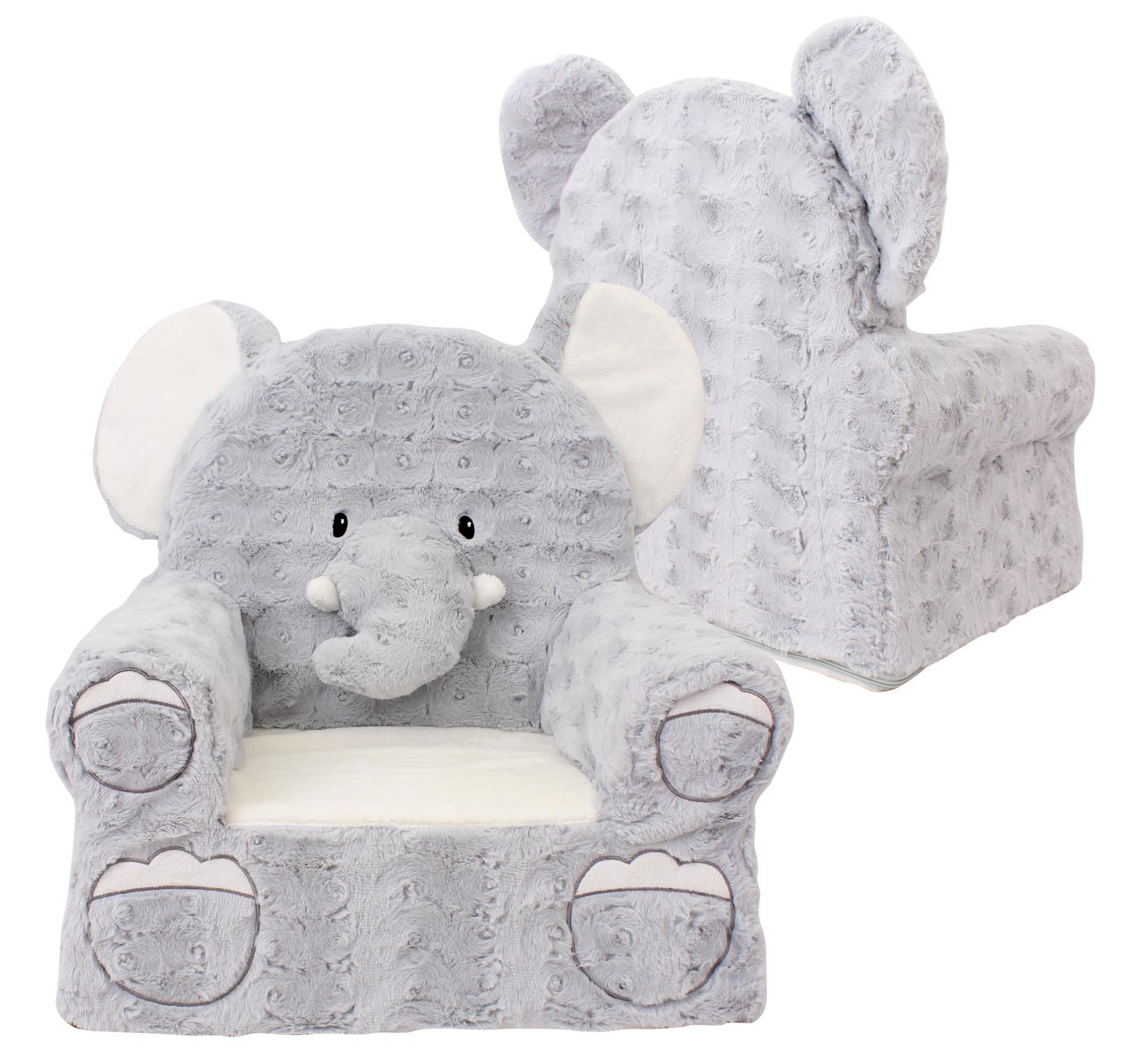 Plush Toddler Chair Sweet Seats Elephant Plush Childrens Chair Grey One Size
